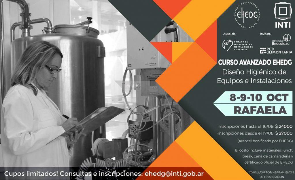 Curso Avanzado Diseño Higiénico de Equipos e Instalaciones (EHEDG)- 8, 9 y 10 de octubre.