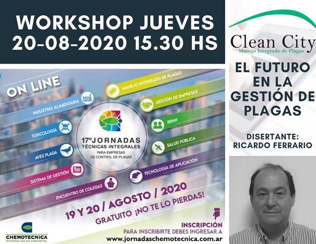 """Workshop """"El Futuro en la Gestion de Plagas"""", 20 de agosto."""