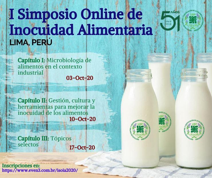 Simposio online de inocuidad alimentaria. Lima, Perú.