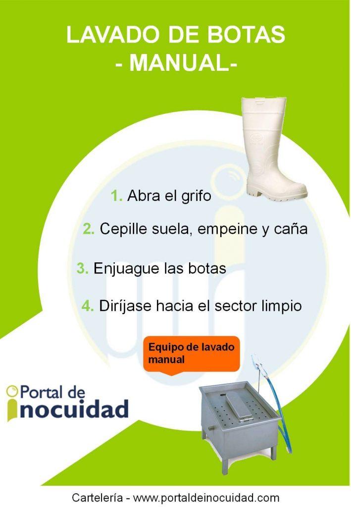 Lavado de botas. Manual.