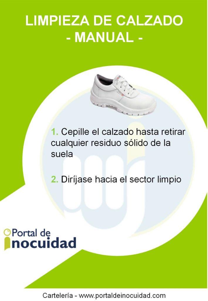 Lavado de calzado. Manual.