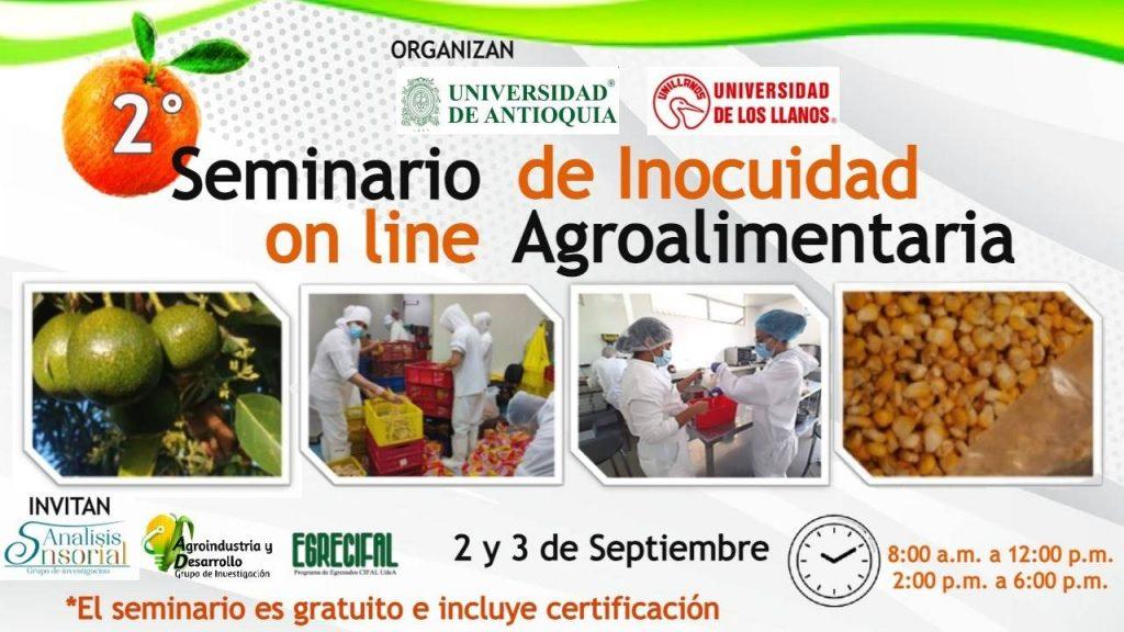 Segundo Seminario Online de Incuidad Agroalimentaria. 2021.
